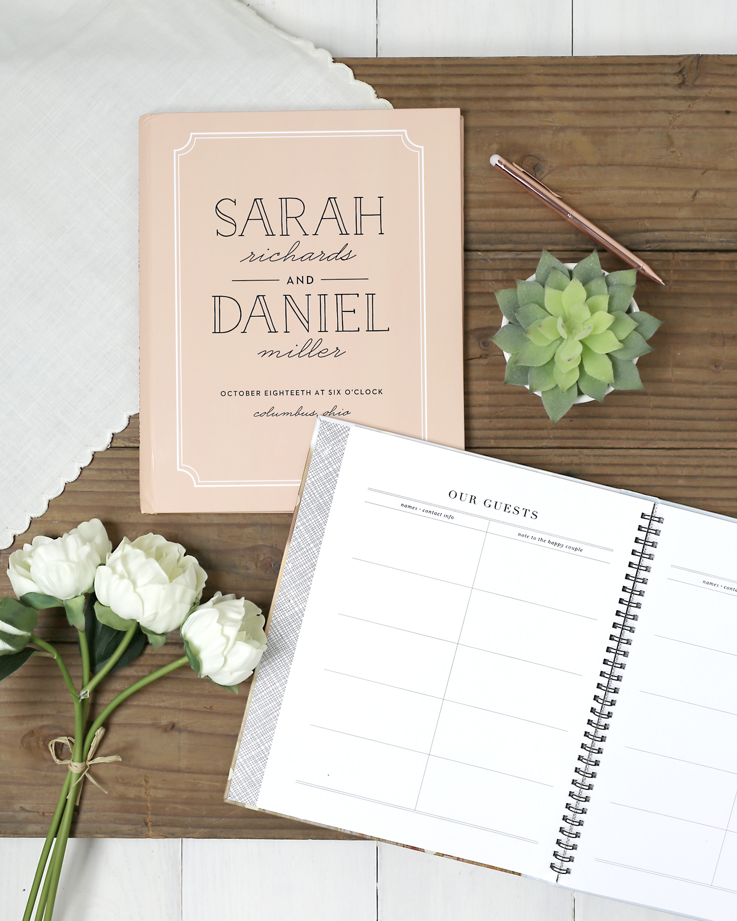 Truly Customized Guest Books- Design Your Way